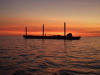 Picture was taken coming back into Johns Pass after watching sunset.  Taken 10/20/06