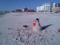 Happy Sandman on St Pete Beach
