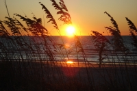 Sensational sunset at Fort De Soto Beach